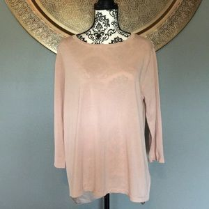 COS Blush Cotton and Silk Blouse